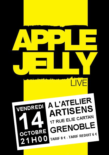 Apple Jelly en concert à l'atelier artiSens le 14 octobre 2011 à Grenoble